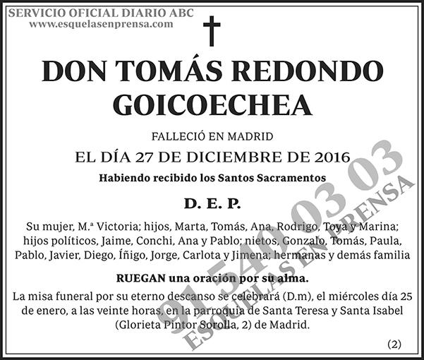 Tomás Redondo Goicoechea